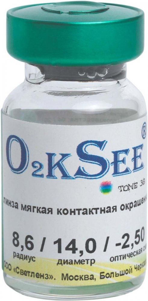 Линзы O2kSee Tone 38 1шт Aква