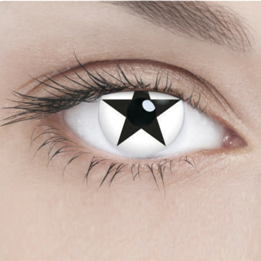 Линзы Adria Crazy 1 шт black star