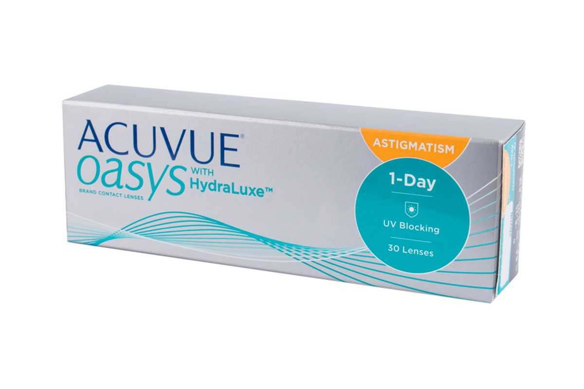 Линзы Acuvue Oasys 1 day with hydraluxe Astigmatism 30шт