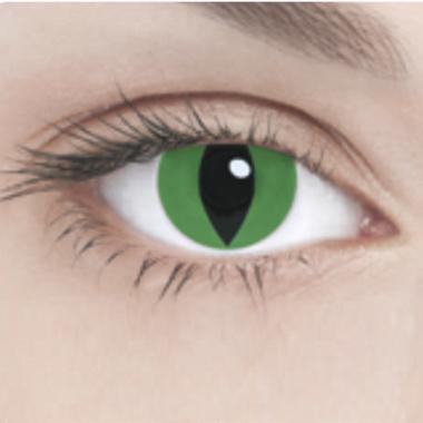 Линзы Adria Crazy 1 шт green cat